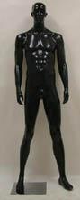 Male Mannequin Fiberglass Black