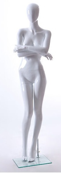 NEW FEMALE FIBER GLASS EGG HEAD GLOSS MANNEQUIN AMY1E
