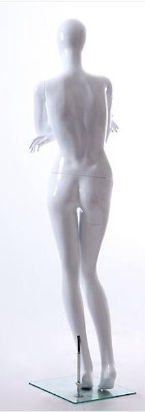 NEW FEMALE FIBER GLASS EGG HEAD GLOSS MANNEQUIN AMY1E