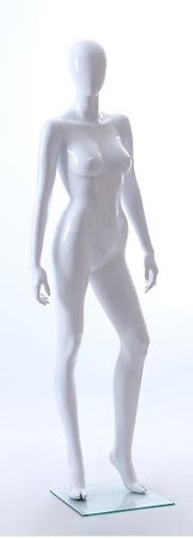 NEW FEMALE FIBER GLASS EGG HEAD GLOSS MANNEQUIN AMY2E