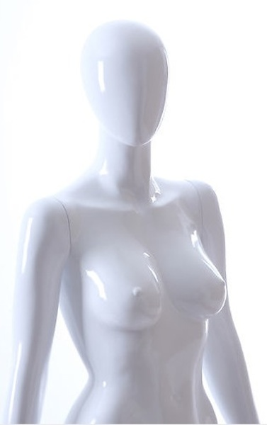 NEW FEMALE FIBER GLASS EGG HEAD GLOSS MANNEQUIN AMY2E