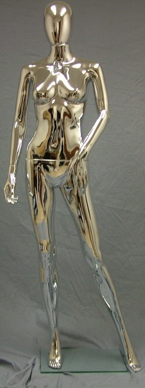 Female Mannequin Egghead Chrome EHF10