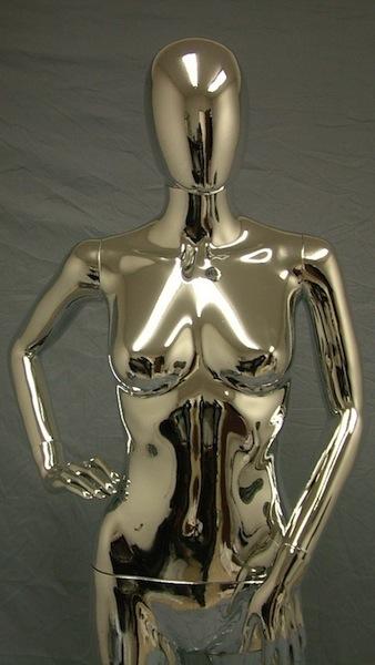 Female Mannequin Egghead Chrome EHF14
