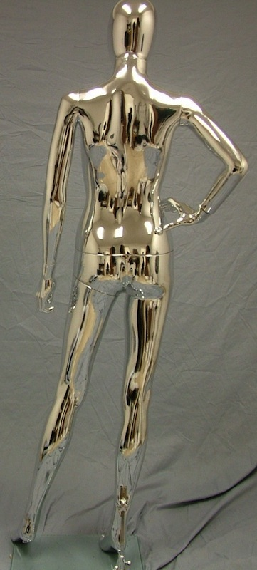Female Mannequin Egghead Chrome EHF17