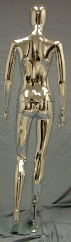 Female Mannequin Egghead Chrome EHF2