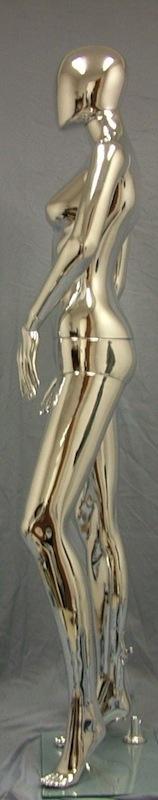 Female Mannequin Egghead Chrome EHF3