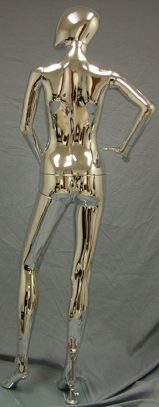 Female Mannequin Egghead Chrome EHF5