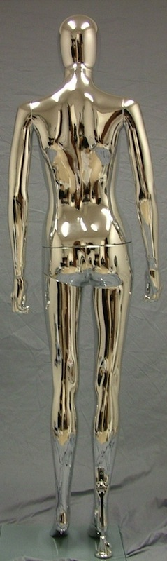 Female Mannequin Egghead Chrome EHF6