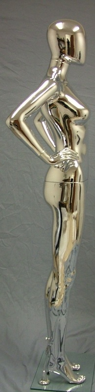 Female Mannequin Egghead Chrome EHF7