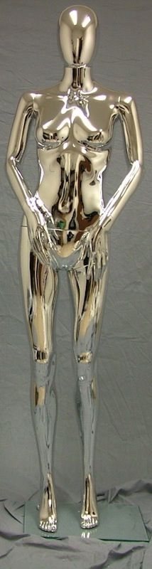 Female Mannequin Egghead Chrome EHF8