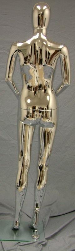 Female Mannequin Egghead Chrome EHF8