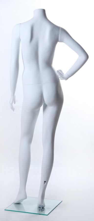 Female Fiberglass Headless White LM19 Mannequin