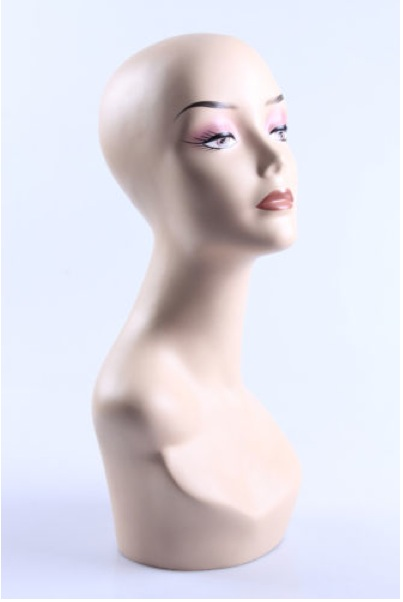 Female Realistic Fiberglass Head 115