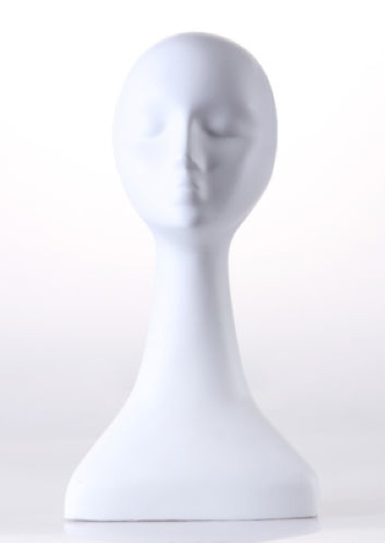 Female Realistic Fiberglass Head 22