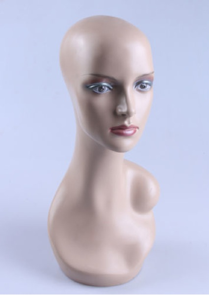 Female Realistic Fiberglass Head 32