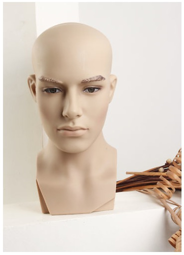 Male Realistic Fiberglass Head H12