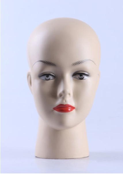 Female Realistic Fiberglass Head H12499