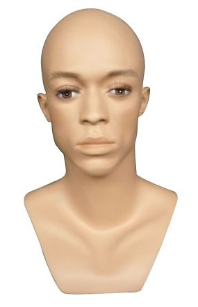 Male Realistic Fiberglass Head H26