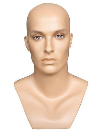 Male Realistic Fiberglass Head H27