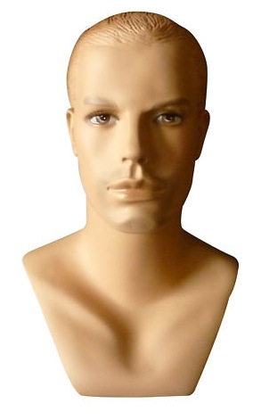 Male Realistic Fiberglass Head H41