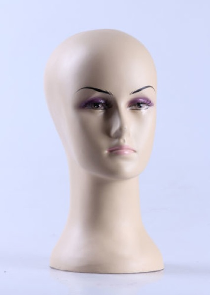 Female Realistic Fiberglass Head H64