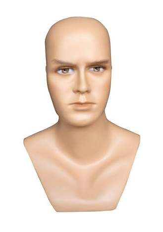 Male Realistic Fiberglass Head H9