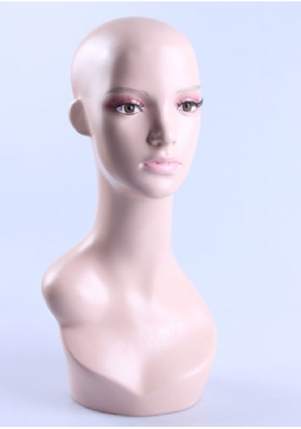 Female Realistic Fiberglass Head ZLXTT18