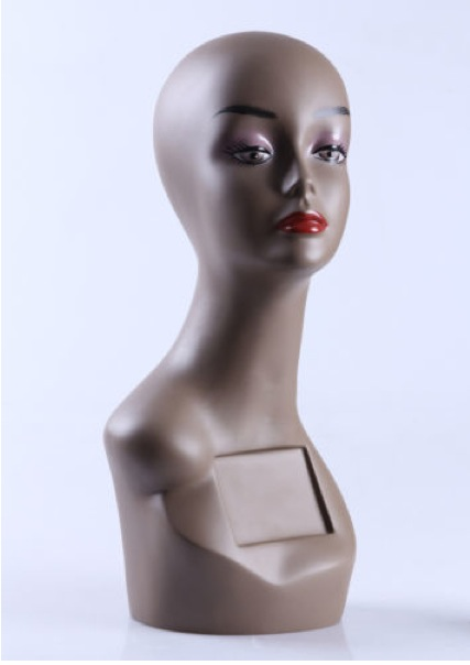 Female Realistic Fiberglass Head ZLXTT19
