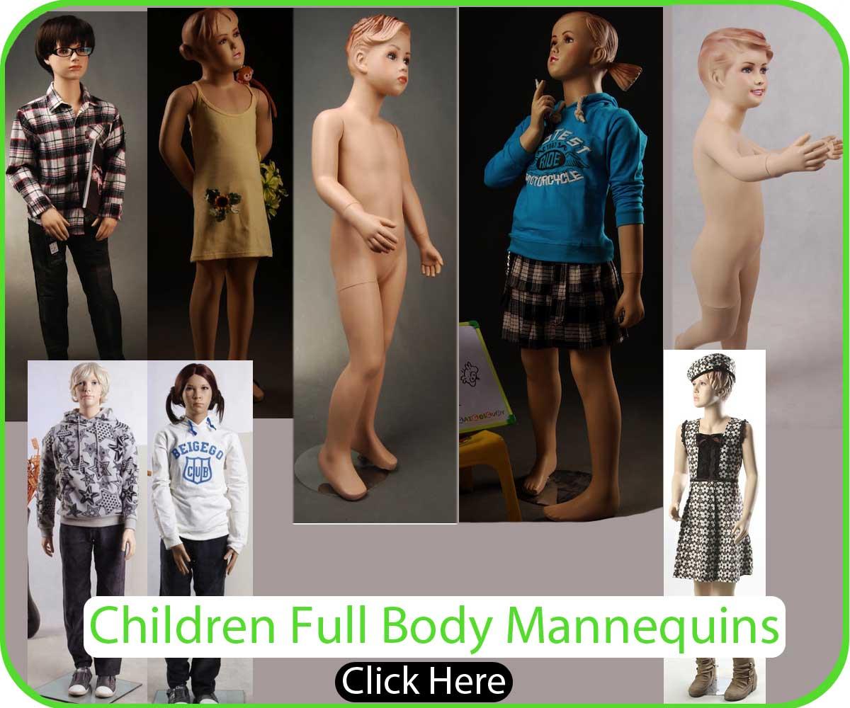 Children Fiberglass Mannequins