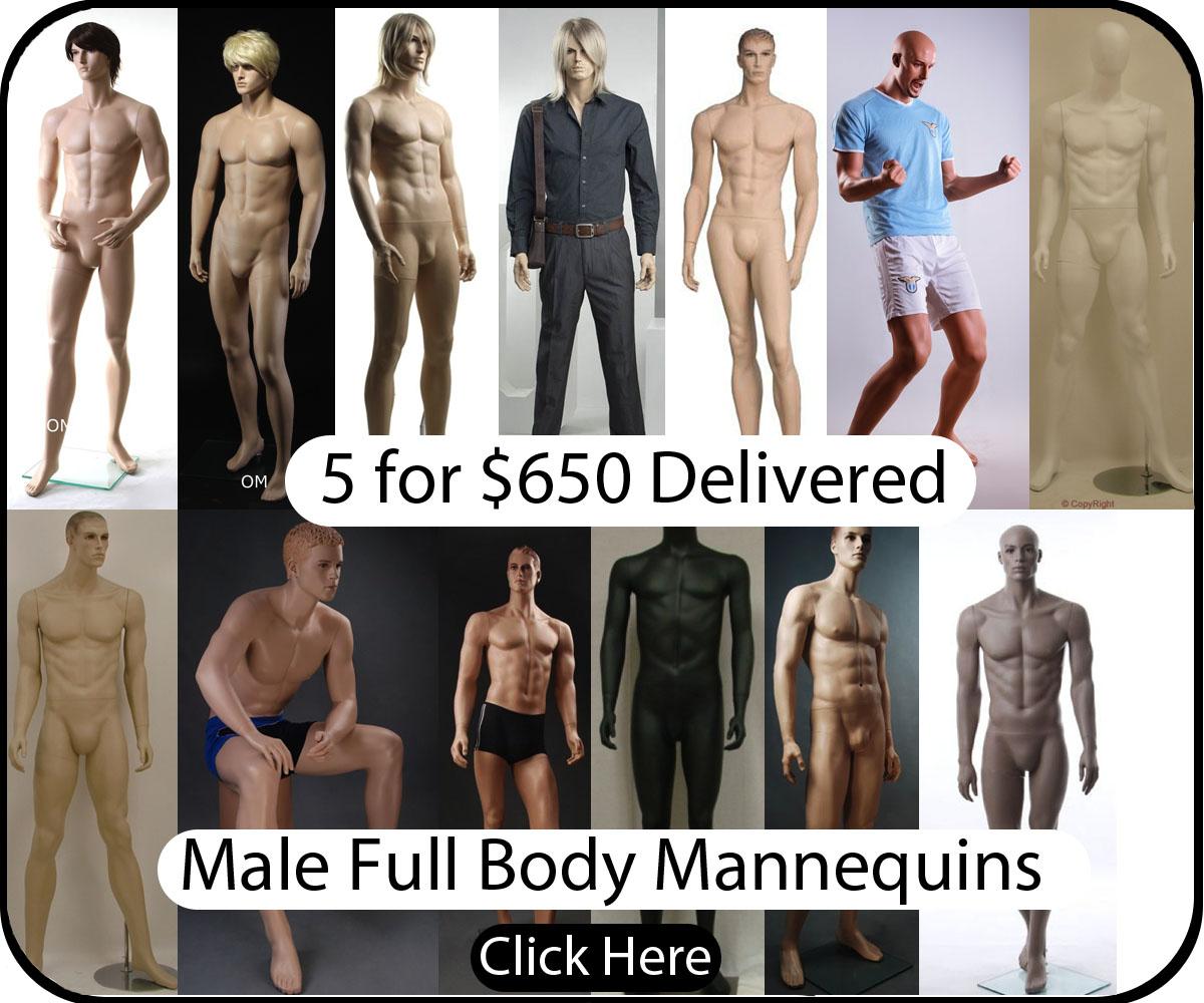 Male Fiberglass Mannequins