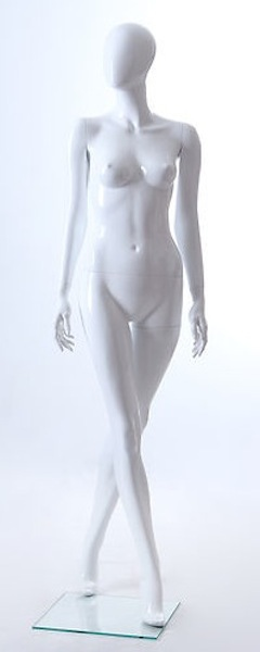 NEW FEMALE FIBER GLASS EGG HEAD GLOSS MANNEQUIN LLF4