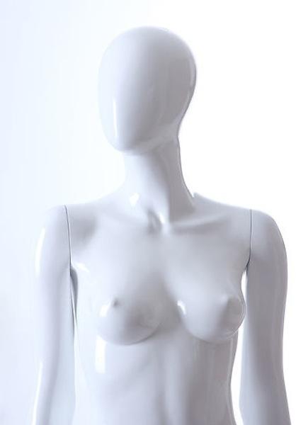 NEW FEMALE FIBER GLASS EGG HEAD GLOSS MANNEQUIN LLF4