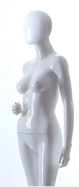 NEW FEMALE FIBER GLASS EGG HEAD GLOSS MANNEQUIN LLF5