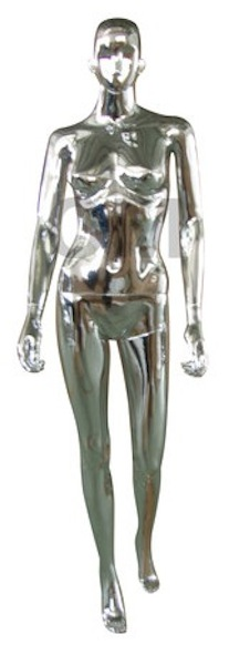 NEW FEMALE MANNEQUIN CHROME SFC3