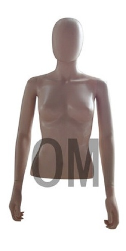 FEMALE MANNEQUIN TABLE TOP DRESS FORM EGGHEAD TORSO FLESH +BASE EHF