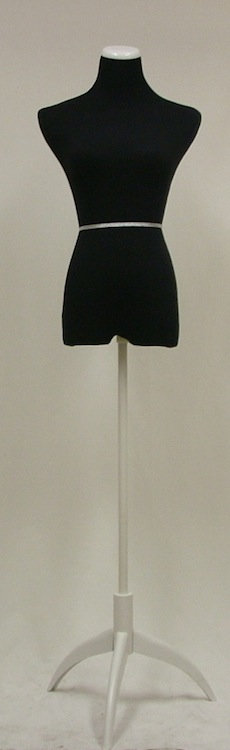 Female Mannequin Dress Form Steel Tripod Base