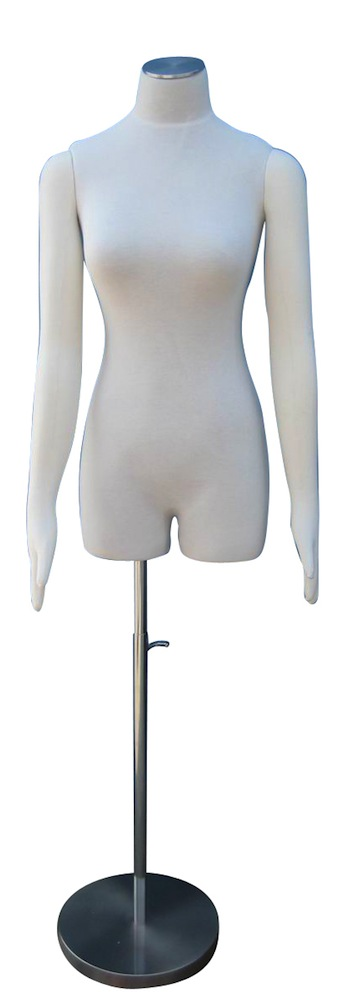 MALE MANNEQUIN JERSEY COVERED DRESS FORM & BASE B9 MM5