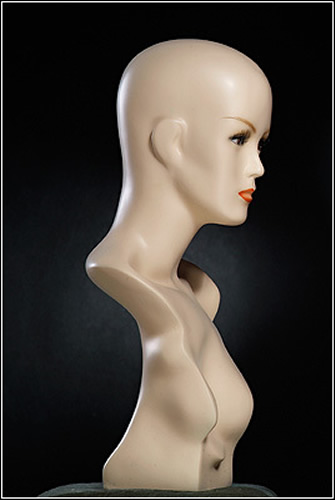 FEMALE REALISTIC MANNEQUIN HEAD stee