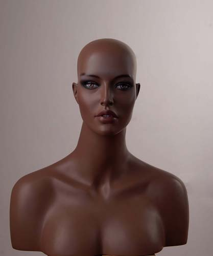 REALISTIC MANNEQUIN HEAD 4 WIG HAT JEWELRY (h6)