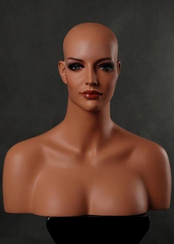 REALISTIC MANNEQUIN HEAD 4 WIG HAT JEWELRY (h8)