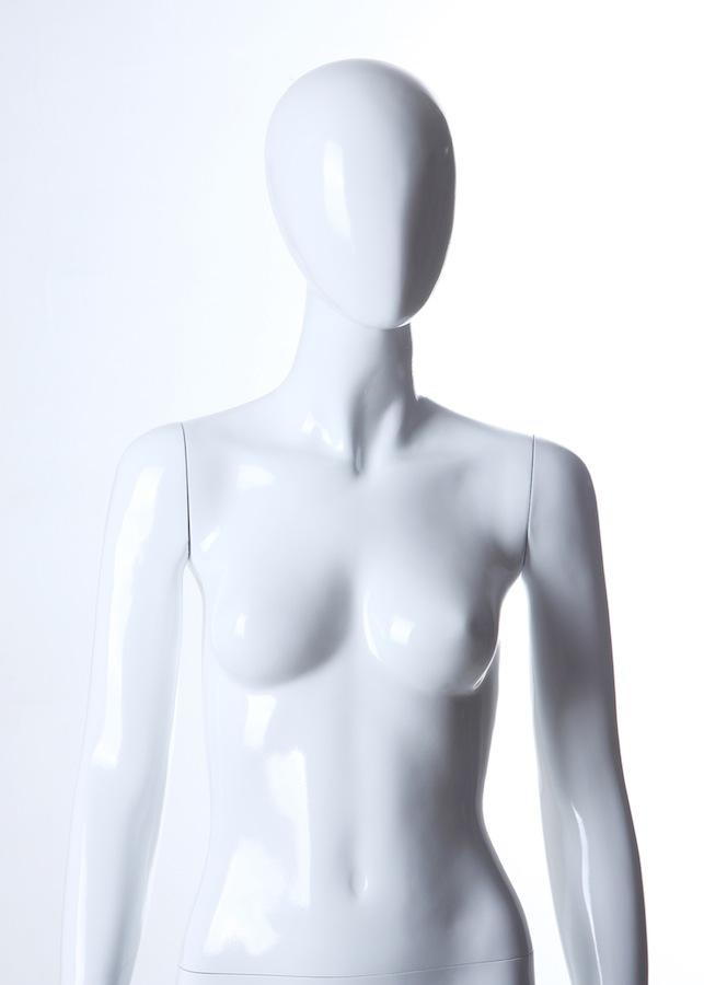 Female Fiberglass Egghead LGL3 Glossy White