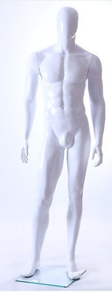 MALE MANNEQUIN EGGHEAD GLOSS WHITE GM24E