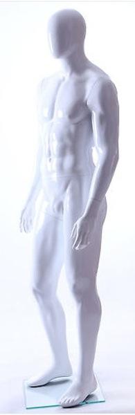 MALE MANNEQUIN EGGHEAD GLOSS WHITE GM24E