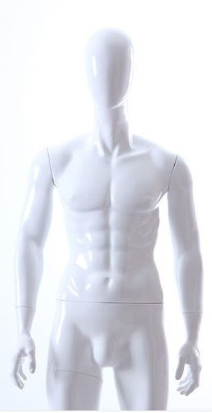 MALE MANNEQUIN EGGHEAD GLOSS WHITE GM27E