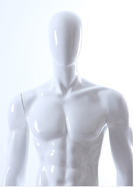 MALE MANNEQUIN EGGHEAD GLOSS WHITE GM9E