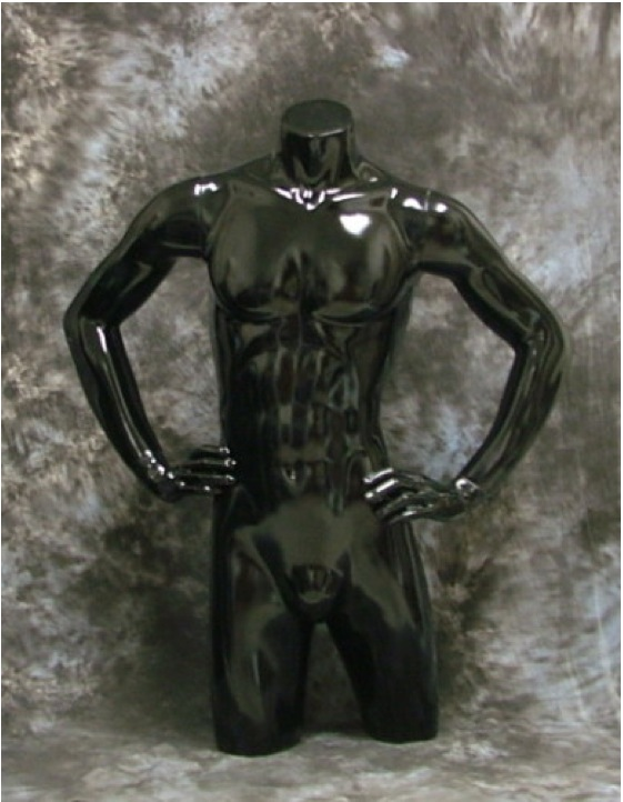 New Fiberglas Male Torso Mannequin W/ Arms (FPH10)