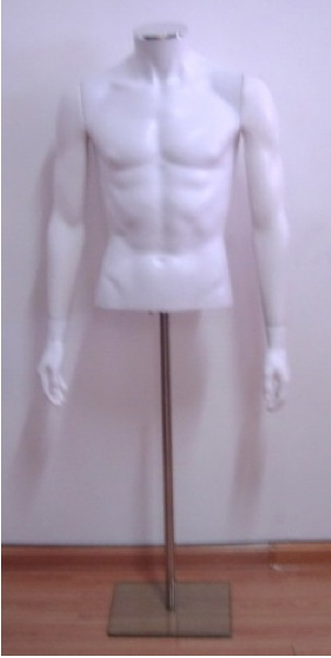 Male Fiberglass Torso Headless  With base