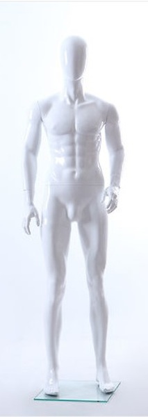 MALE MANNEQUIN EGGHEAD GLOSS WHITE MIK6E