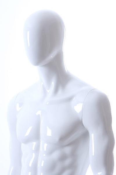 MALE MANNEQUIN EGGHEAD GLOSS WHITE MIK7E