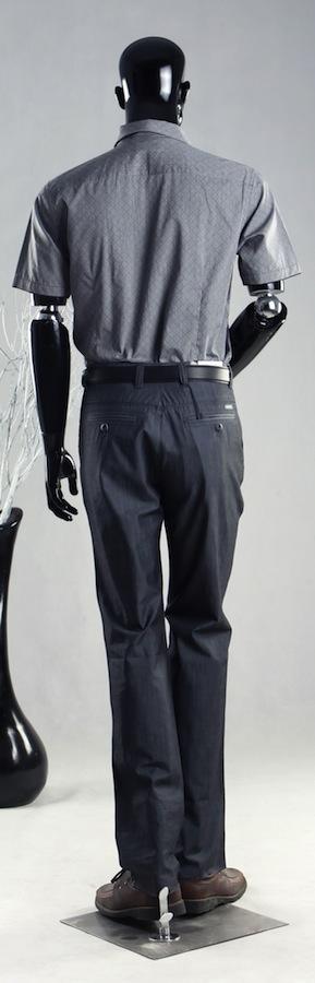 Flexible Arms Male Black Mannequin Form PGL13